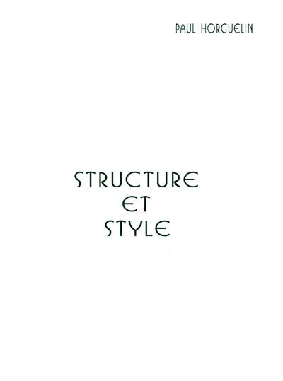 Structure et style